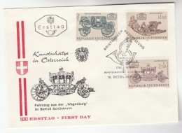 1972 AUSTRIA FDC TREASURES Stamps SPECIAL Pmk  Cover  CARRIAGE - FDC