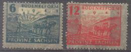 SBZ Provinz Sachsen Bodenreform Michel 90-1 / Sc 13N15-6  / YT 20A-1A Ungebraucht/neuf Avec Charniere/MH - Zone Soviétique