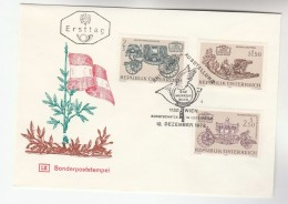 1972 AUSTRIA FDC TREASURES Stamps SPECIAL Pmk  Cover  FLAG - FDC