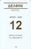 GREECE - Dolphin(room 12), Hotel Keycard, Sample - Hotel Keycards
