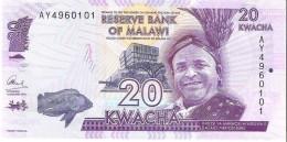 Malawi - Pick 57 - 20 Kwacha 2015 - Unc - Malawi