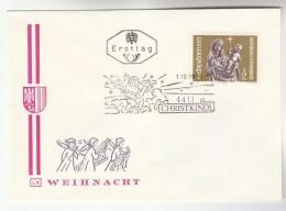 1972 AUSTRIA FDC CHRISTKINDL Stamps SPECIAL Pmk  Cover Christmas Religion - FDC