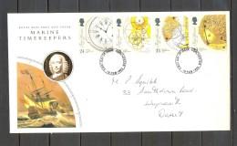 1993 , GRAN BRETAÑA , SOBRE DE PRIMER DIA , RELOJES , RELOJERIA , MARINE TIMEKEEPERS - Relojería