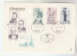 Salzburg  AUSTRIA FDC OPERA  Stamps Cover Music Theatre - Music
