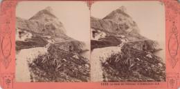 1860´S ESTEREO LA TOUR DU CHATEAU A  GIBRALTAR STEREO  J.A. - Fotos Estereoscópicas