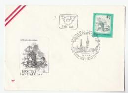 1976 Reiz AUSTRIA FDC REIZ WINDMILL Stamps SPECIAL Pmk  Cover Energy - Sciences