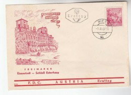1962 AUSTRIA FDC SCHLOSS ESTERHAZY  Stamps  Cover Castle - FDC