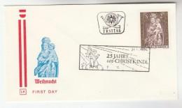 1974 AUSTRIA FDC CHRISTKINDL Stamps SPECIAL Pmk  Cover Christmas Religion - Christmas