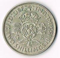 United Kingdom 1945 2/- - 1902-1971 : Post-Victorian Coins