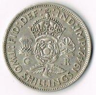 United Kingdom 1942 2/- - 1902-1971 : Post-Victorian Coins
