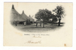 GUINEE  /  CONAKRY  /  VILLAGE  DU  ROI  ALMAMY  SEKOU  /  CPA  PRECURSEUR - French Guinea