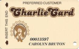 Arizona Charlie's West/Decatur Casino Las Vegas, NV - Slot Card - Black Stripe On Reverse - Casino Cards