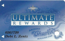 Arizona Charlie´s East/Boulder Casino Las Vegas, NV - Slot Card - 1 Logo On Back - BLUE Color - Casino Cards
