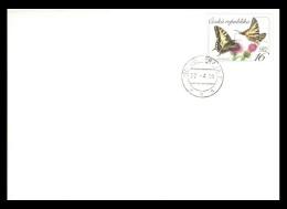 Czech Republic FDC 2016 Mih. 881 Definitive Issue. Fauna. Butterflies. Swallowtails - FDC