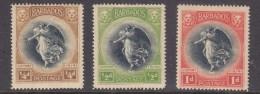 Barbados, 1920, Victory, 1/4d 1/2d, 1d,  MH * - Barbados (...-1966)