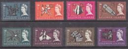 British Solomon Islands, New Currency, 8 Values 1c / L1/2d - $2 / £1  MH * - British Solomon Islands (...-1978)
