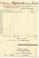 FACTURE GIGNOUX & BARBEZAT PRODUITS CHIMIQUES à DECINES (ISERE) 1948 - France