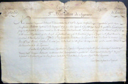 CAMPAGNES NAPOLEONIENNES  ARMEE D'ITALIE ETAT DE SERVICE  BATAILLON DE SAPEURS 1798 - Documenten