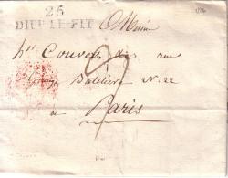 DROME - 25 DIEULEFIT - LETTRE AVEC TEXTE ET DIGNATURE DU 4-12-1826 - TAXE MANUSCRITE POUR PARIS - INDICE 8. - Marcophilie (Lettres)