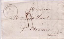 DROME - DIEULEFIT - T14 DU 3-9-1842 - TAXE 4 POUR ST ETIENNE - AVEC TEXTE ET SIGNATURE - Marcophilie (Lettres)