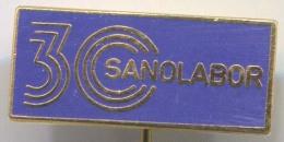 SANOLABOR -  Vintage Pin Badge, Enamel - Merken