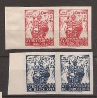 1943 Aniversario Llegada Colon A Barcelona Edifil 49s/50s** MNH Valor Catal. 200,00€ - Barcelona