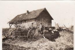 Photo Avril 1915 SAINT-MARD (près Roye) - Position Allemande, Un Abri (A143, Ww1, Wk 1) - France