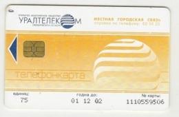 Calling Card  75 Units - 2001 -  Uraltelecom - Sverdlovsk - Russia - Russie