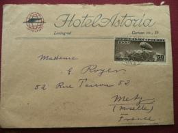 RUSSIE RARE Enveloppe Avec Timbre Zeppelin De Léningrad !!!!! - Stamps