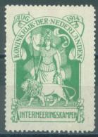 NETHERLANDS - MLH/* - 1916 - INTERNEERINGSKAMPEN  - Mi 1 Yv 1 - Lot 14103 - 1891-1948 (Wilhelmine)