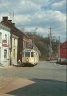 BELGIQUE SAINT VAAST TRAM TRAMWAY MOTRISE TYPE S 9075 SUR LA LIGNE 90 CHARLEROI BINCHE LA LOUVIERE - Tramways