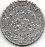 *estonia 2 Krooni 1930  Km 20  Xf+  !!!! Catalog Val 50,00$ - Estonie