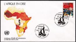 """UN Wien 1986, FDC Cover """"Help Africa"""" W./special Postmark """"Wien"""", Ref.bbzg - FDC"""