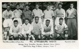 "R.C.STRASBOURG 1950-51 ""Vanags, Krug, Schaeffer, Etc"" - Dos Vierge - 90x140 - Photo A.Bienvenu Paris - Soccer"
