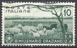 Italia, 1936 Orazio 10c Verde  # Michel 547 - Yvert & T. 378 - Scott 359 - Sassone 398 - USATO - Usati