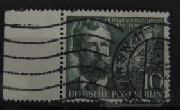 1954, Berlin Mergenthaler Linken Rand, Michel 117, O Gst Used, Value +3,- - Berlin (West)