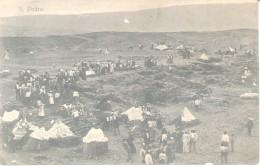 CABO VERDE - S. PEDRO -FEIRAS E MERCADOS Carte Postale CIRCA 1910 TRES ANIMEE TOP CARTE DOS DIVISE UNCIRCULATED - Kaapverdische Eilanden