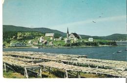 La Gaspesie, Chloridorme, Quebec Le Petit Village De Pecheurs. Remarquez Les Vigneaux Utilises Pour Scher La Morue.