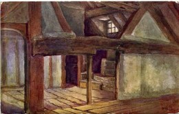 SALMON ART - QUATREMAIN 663 - SHAKESPEARE´S BIRTHPLACE, WOOL ROOM STRATFORD ON AVON - Stratford Upon Avon
