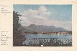 Italie - Navigazione Lago Maggiore - Tessera Di Libera Circolazione Speciale Stresa Pallanza - Carte De Navigation - Verbania