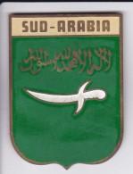 SUD-ARABIA - CHAPA METALICA ESMALTADA DE COCHE - AÑ0 1950/60 - DIAMETRO 7,5 CMS - Auto's
