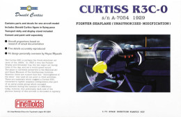 """Curtiss R3C-0 1/72 """" Porco Rosso """"  ( Finemolds ) - Airplanes"""