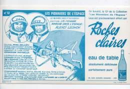 Buvard - Roches Claires, Eau De Table - N°12, Les Pionniers De L'espace - Blotters