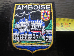 AMBOISE 41 Loir & Cher ÉCUSSON BLASON TISSU Brodé  écusson Tissu - Scudetti In Tela