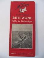 MICHELIN - Guide Régional Bretagne, Côte De L´Atlantique 1936-1937 - Michelin (guides)