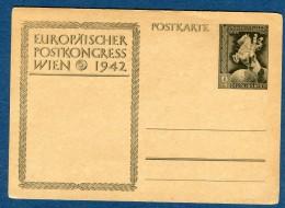 Allemagne - Entier Postal  Congrés Postal De Wien En 1942  Voir 2 Scans  Réf.1046 - Allemagne