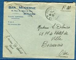 France - Enveloppe En Franchise Pour Beauvais En 1939  Voir 2 Scans  Réf.1057 - Marcophilie (Lettres)