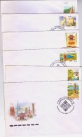 2000 Russia Stamps Russian Regions FDC - 1992-.... Fédération