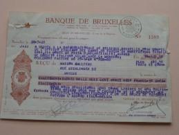 Banque De Bruxelles ( Maison Gallieau Anvers Rue Sterlinger ) Anno 1948 ( Reçu ) ( Zie Foto Voor Details ) !! - Wechsel