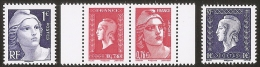 2015 -LIBERATION 2 Timbres Issus Du Bloc ( GANDON 4986/87) + 2 Timbres Du Carnet ( DULAC 4991/92) -NEUFS ** LUXE - Blocs & Feuillets